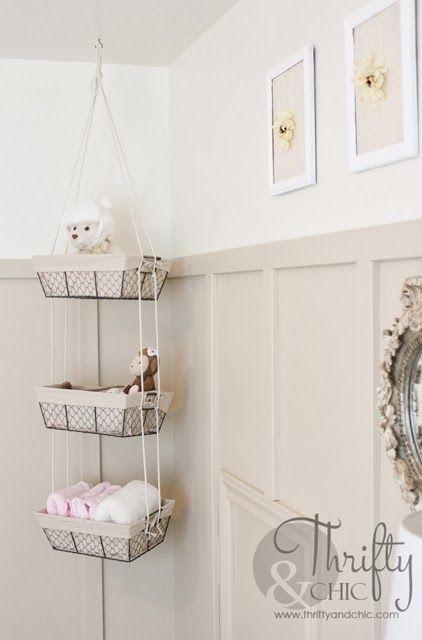 Diy Hanging Storage Baskets Bathroom Basket Storage Hanging Storage Storage Baskets
