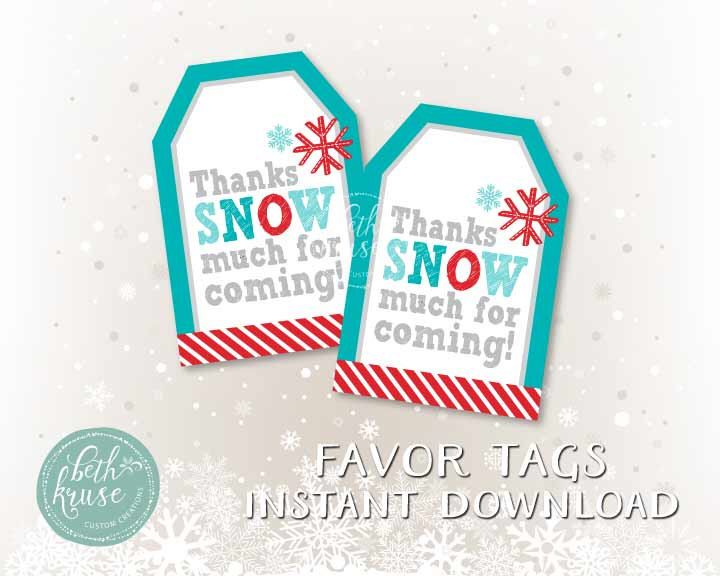 A personal favorite from my Etsy shop https://www.etsy.com/listing/258179071/winter-favor-tags-by-beth-kruse-custom