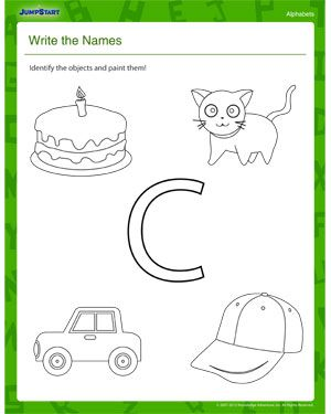 Write The Names Elementary Coloring Worksheet Alphabet Worksheets Kindergarten Alphabet Worksheets Kindergarten Worksheets