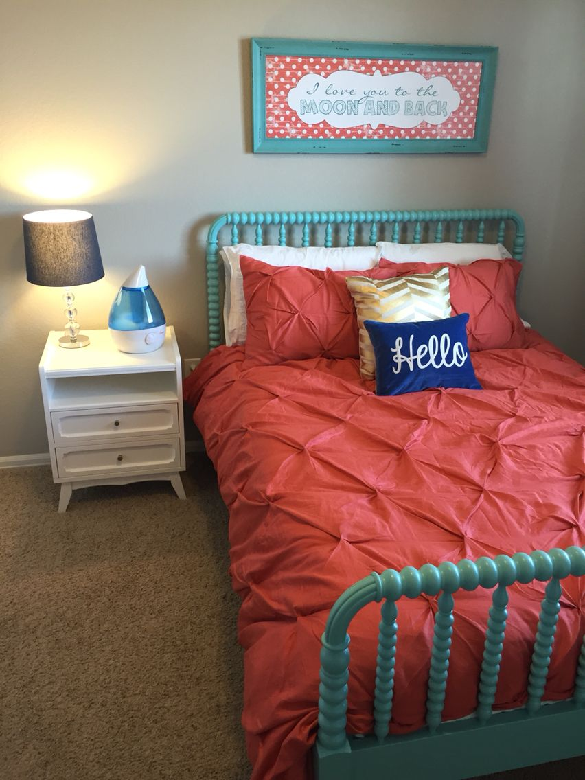 Jenny Lind bed and monarch nightstand from land of nod