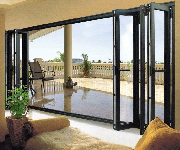 porte ext rieur id es merveilleurses pour terrasse et balcon porte exterieur porte pliante. Black Bedroom Furniture Sets. Home Design Ideas