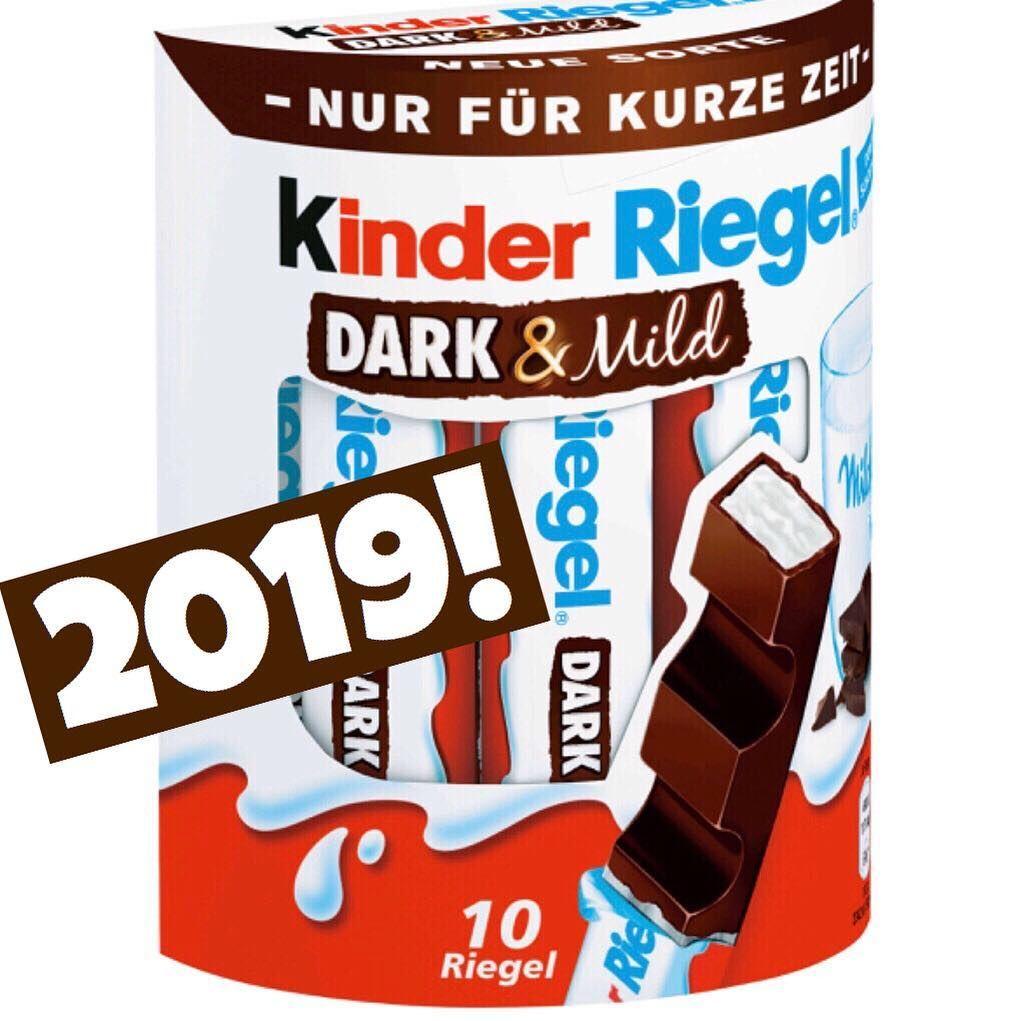 foodnews 2019 ferrero kinder riegel dark mild werbung produktneuheit. Black Bedroom Furniture Sets. Home Design Ideas