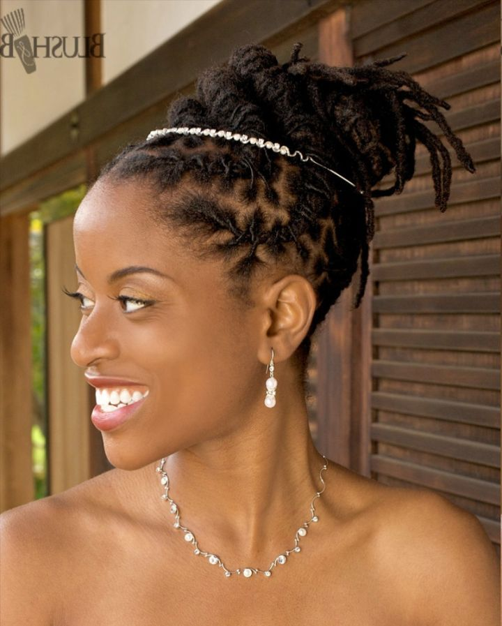 Rosebud Faux Mohawk A Wedding Locs Updo For My Sister S Camille You