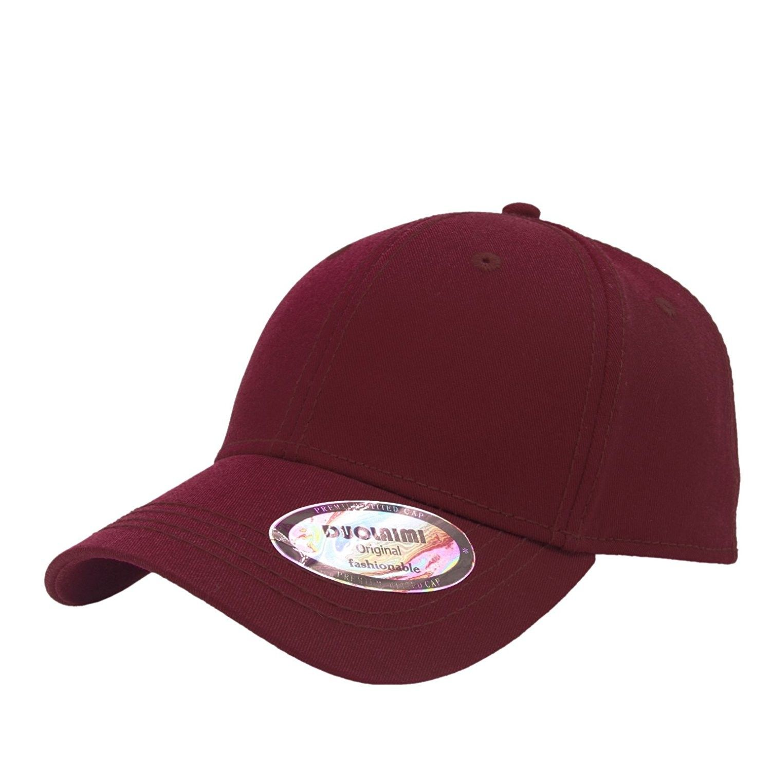 Plain Baseball Cap With Metal Button For Unisex Adult - Red - C812BRQLUFV -  Hats   Caps ecb8b4e72c4