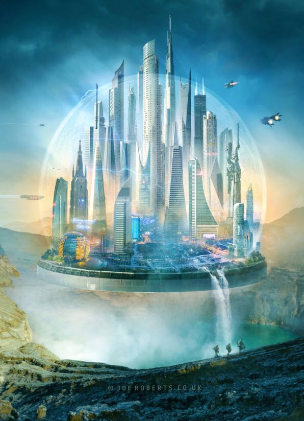 20 Absolutely Magnificent Futuristic City Digital Art - PSD Vault