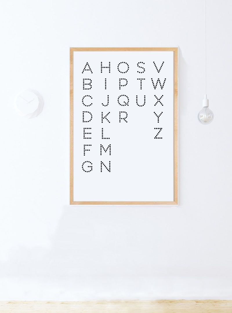 Gift Idea Typography Art Prints For People Who Love Fonts Letters