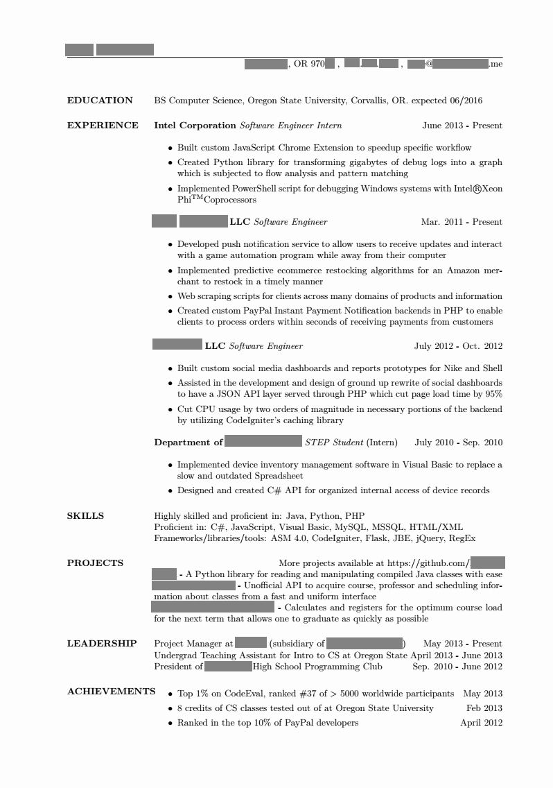 23 Resume Projects Section Example In 2020 Student Resume