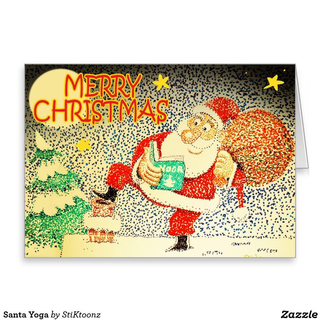 Santa Yoga Greeting Card Stiks Christmas Gifts Pinterest