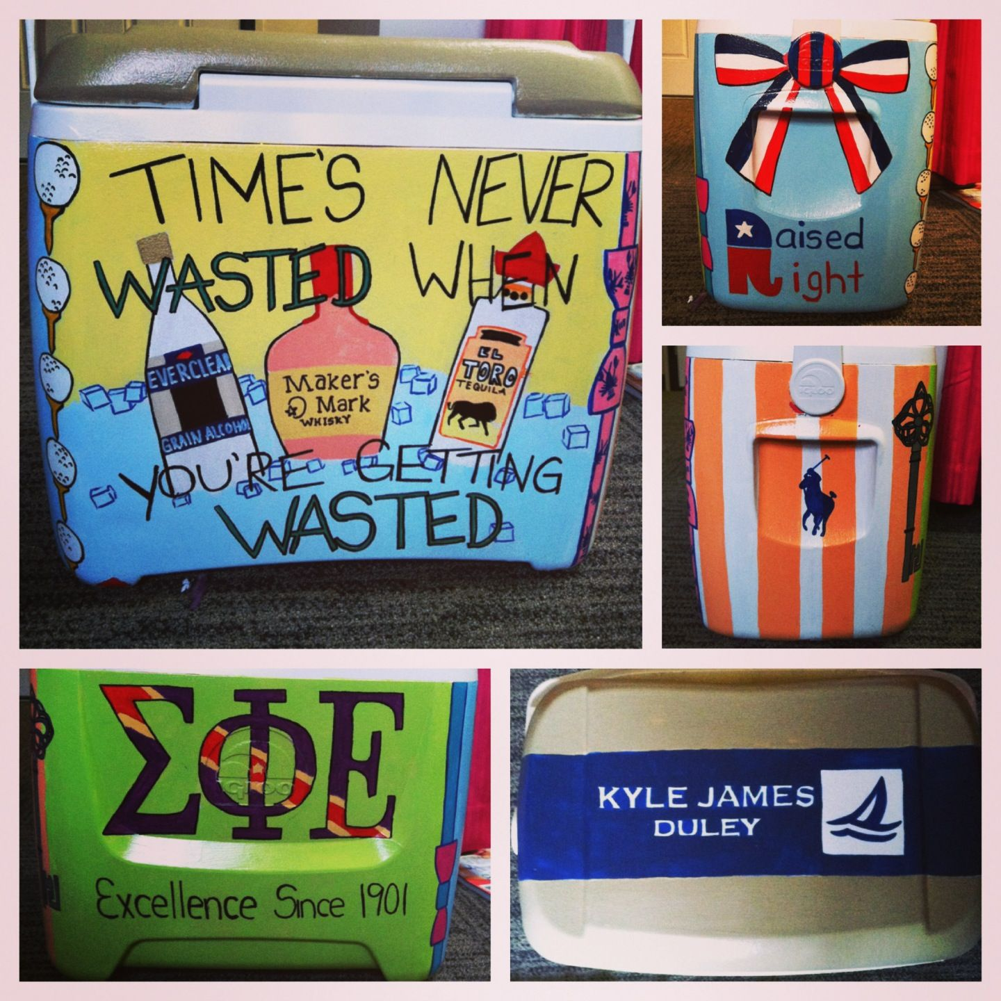 Making your boyfriend a painted cooler
