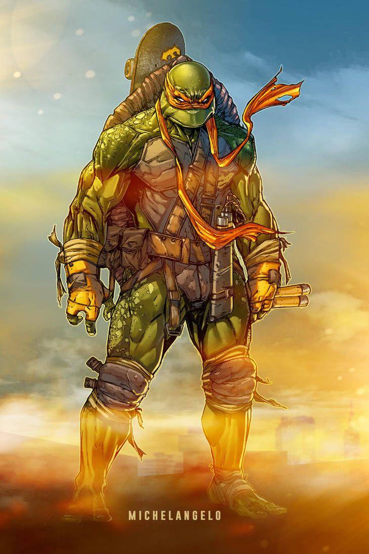 Teenage Mutant Ninja Turtles Michelangelo Color By Le0arts On De Teenage Mutant Ninja Turtles Artwork Teenage Mutant Ninja Turtles Art Ninja Turtles Artwork