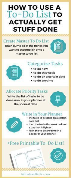 How to Use a To Do List and Actually Get Stuff Done