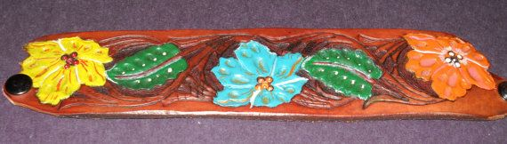 9Inch Floral Western HandTooled and Painted by BringingUsTogether