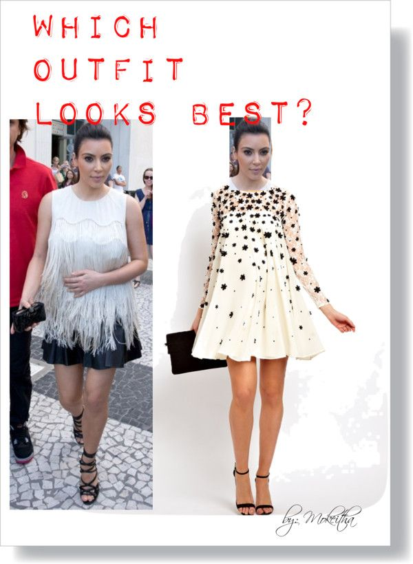 """""""Which outfit looks best on #KimKardashian?"""" by mokeitha ❤ liked on Polyvore"""
