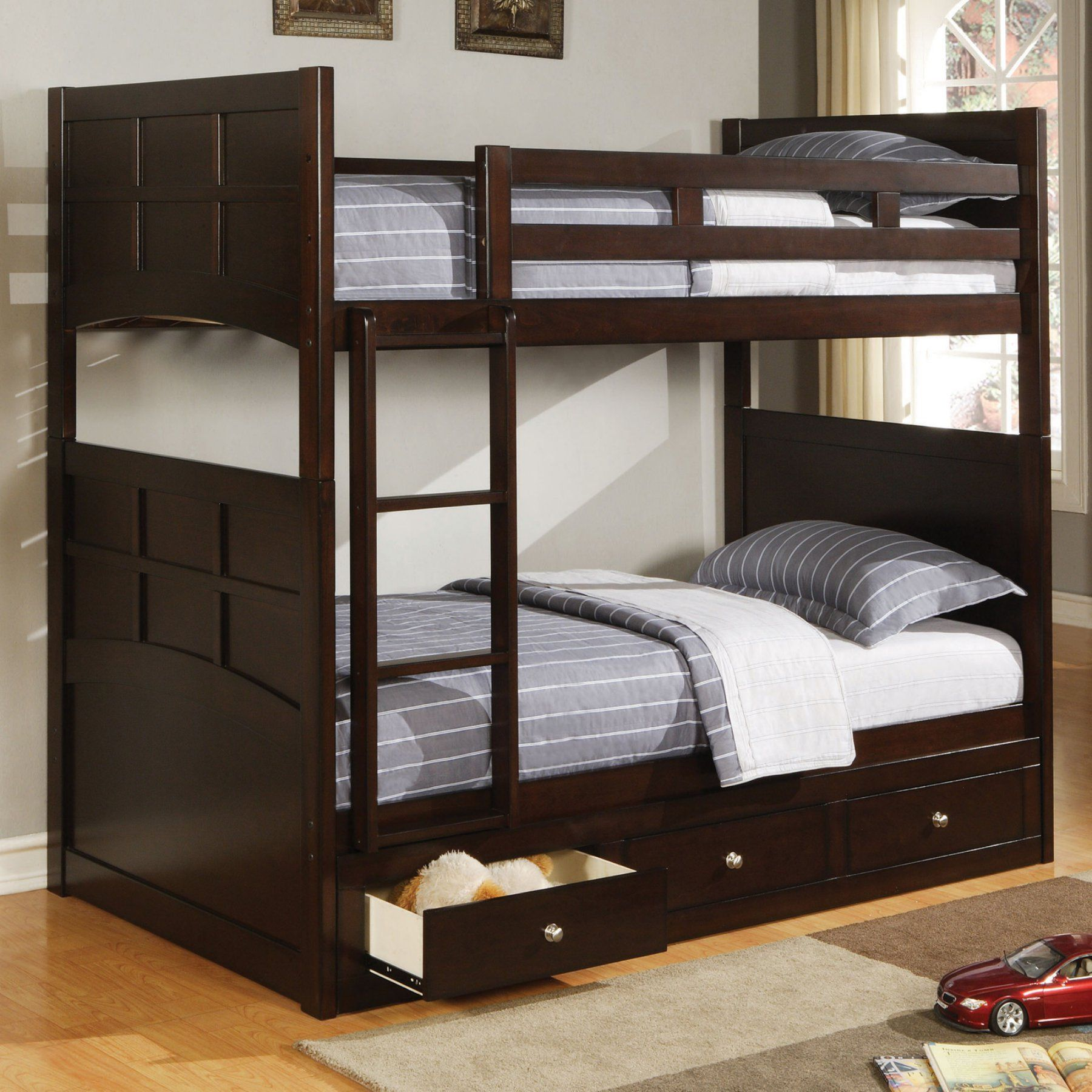 Coaster Furniture Jasper Twin Bunk Bed with Optional Three Drawer