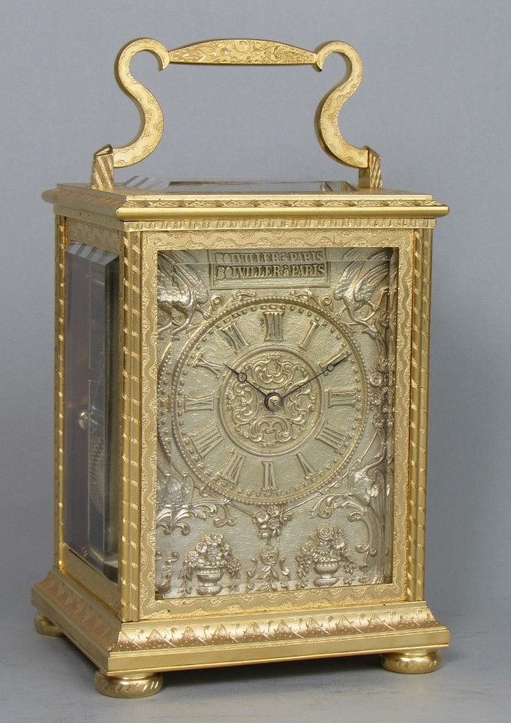 aab61bb1233 A finely engraved carriage clock
