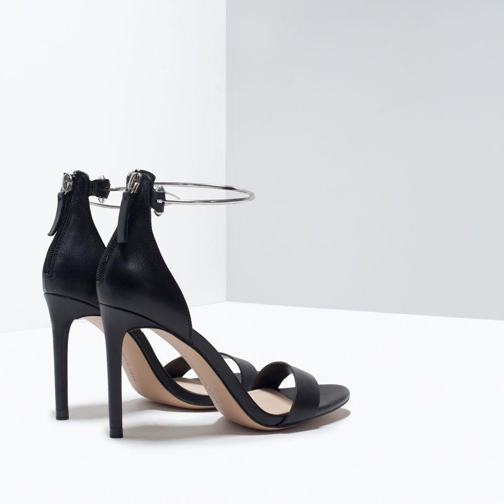Donna Pelle Borse Tacco CaviglieraScarpe Zara Sandalo E MVSUzp