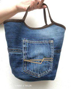 wie aus einer alten jeans eine kleine einkaufstasche wird n hen f r und mit kinder. Black Bedroom Furniture Sets. Home Design Ideas