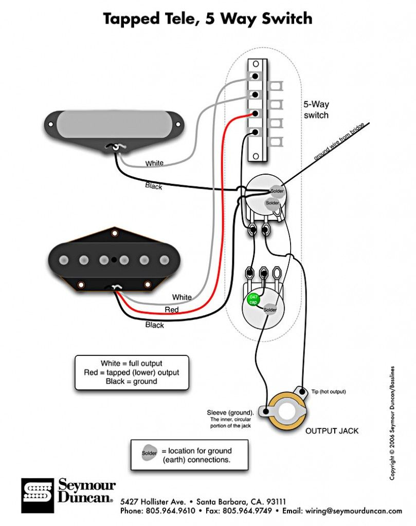 tapped tele 53 model t guitar wiring diagrams the tele wiring diagram tapped a 5 way switch