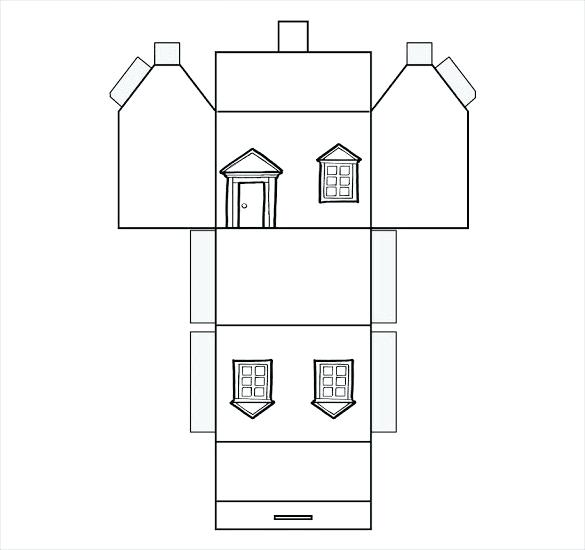 Foldable House Template Printable Paper Free Folding Gingerbread Paper House Template House Template Paper Houses