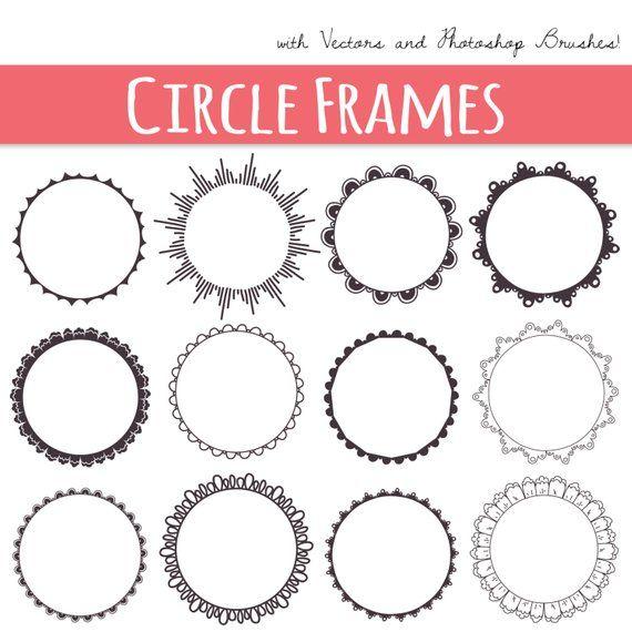 CLIP ART: Circle Frames // Digital Frames // Decorative