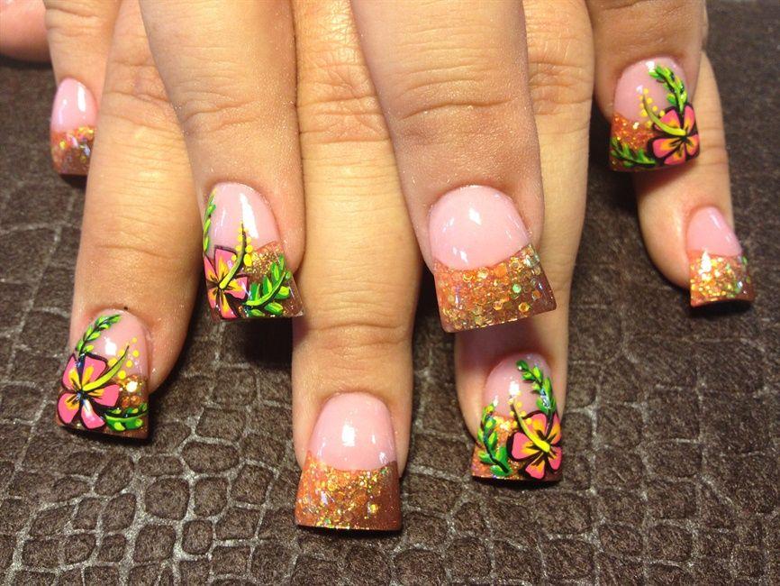 Tropical Hawaiian Nails (ideas for Hawaii) - 25+ Beautiful Hawaiian Nail Art Ideas On Pinterest Hawaiian