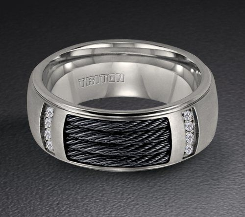 Cable Wedding Band For Him