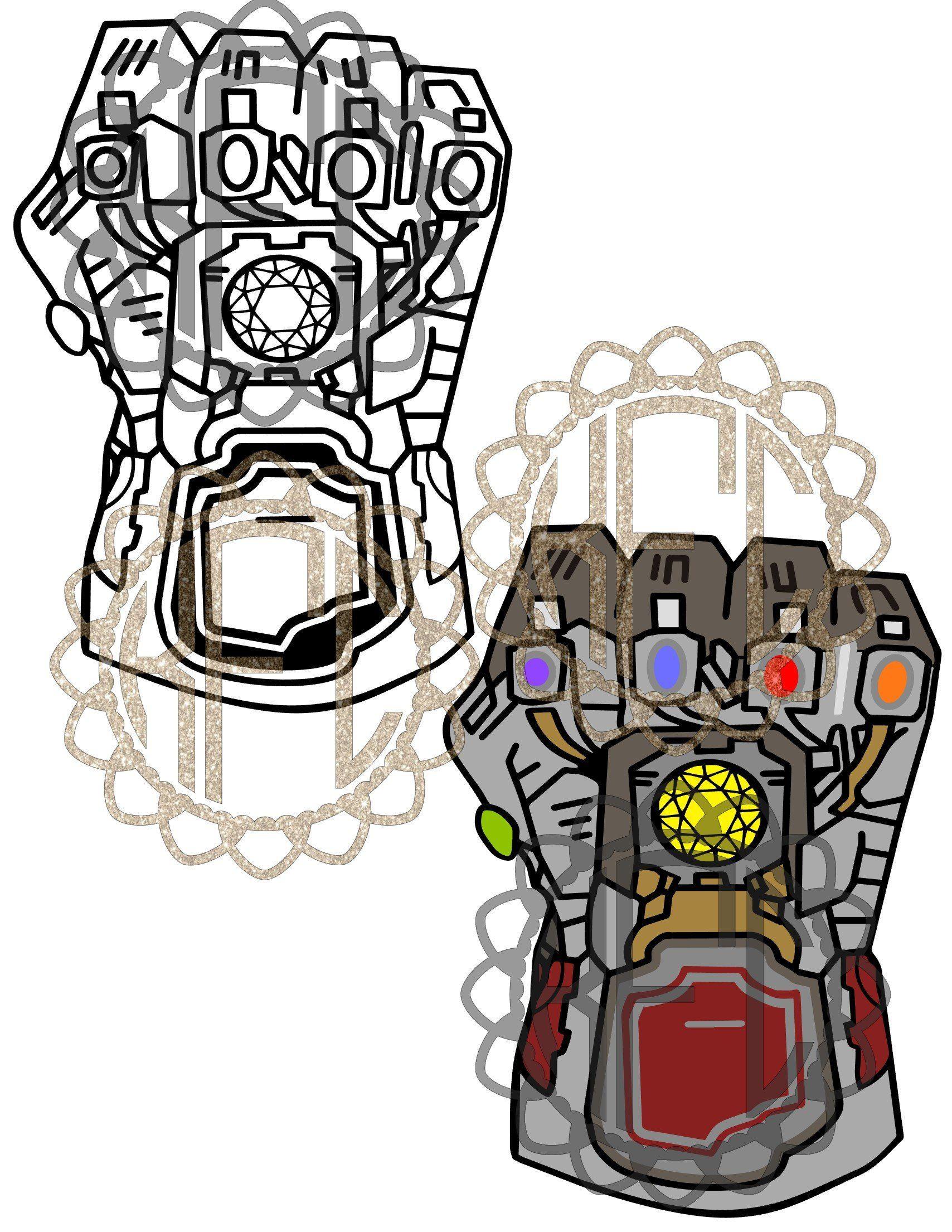 New To My Etsyshop Avengers Endgame Electric Infinity Gauntlet Ironman Hulk Version Svg Pdf Svg Eps Png Studio3 Baby Clothes Quilt Iron Man Cute Chibi