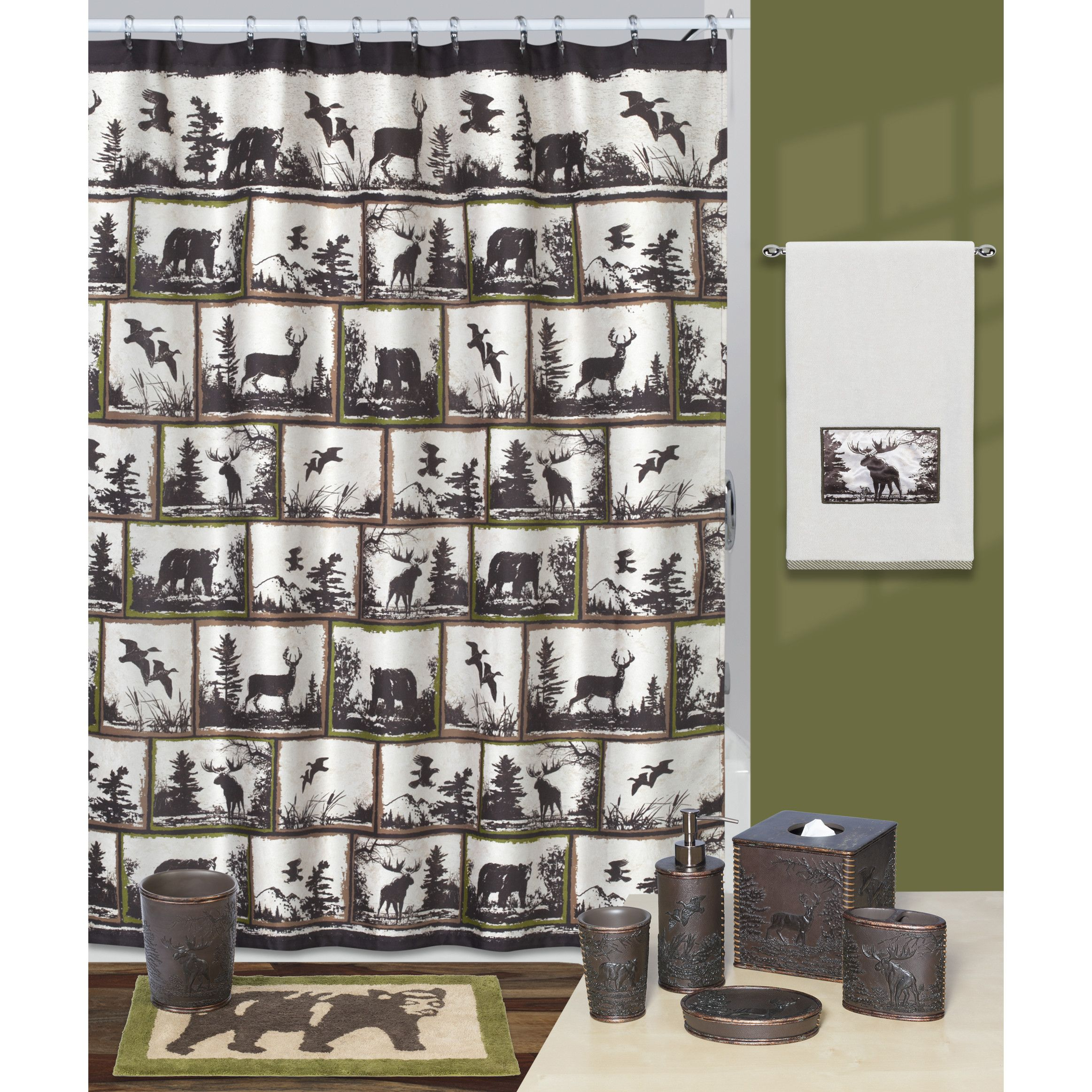creative bath rustic montage shower curtain and reviews wayfair