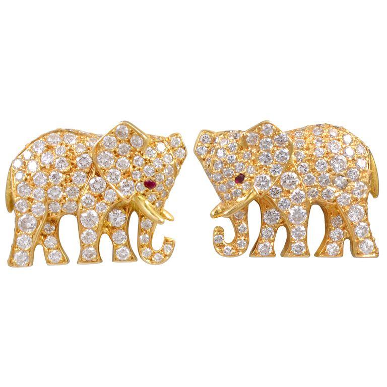 CARTIER Diamond Elephant Earrings | Jewels | Pinterest ...