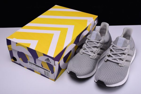 172feff53ba32 ... Adidas Ultra Boost 4.0 Grey Two Core Black BB6167 For Men and Women-4  ...