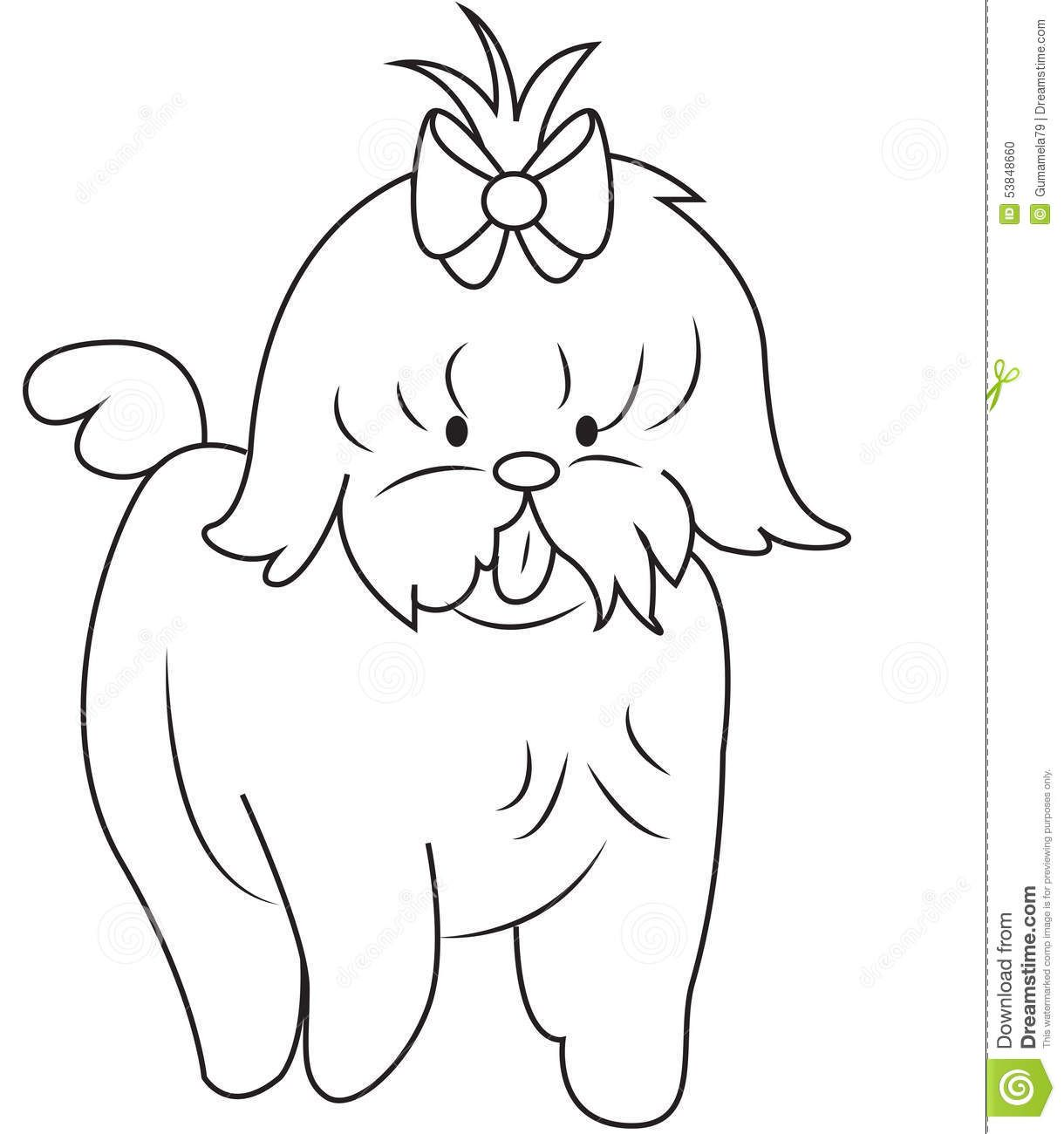 Shih Tzu Coloring Pages Free