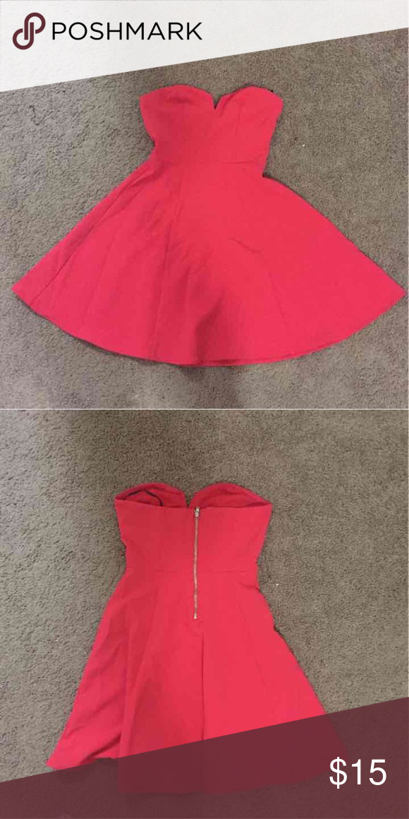 H&M red strapless dress. Like new!!! Like new size 2 H&M Dresses Mini