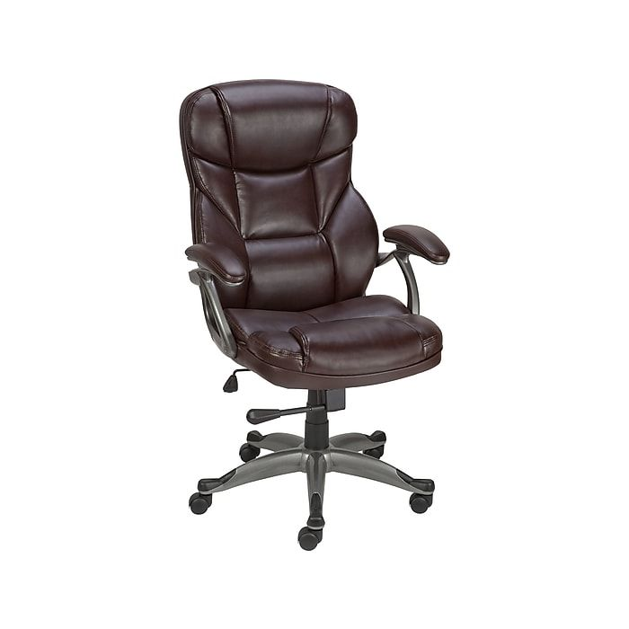 Staples.com: Staples Osgood Bonded Leather High-Back Manager's Chair, Brown with fast and free shipping on select orders.