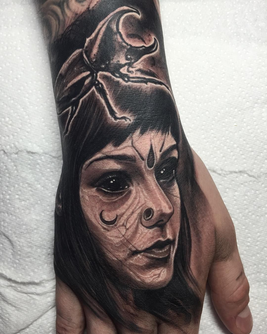 Grace Neutral face by Anrijs Straume (@ anrijsstraume) #silverbackink #killerink #hustlebutterdeluxe #portrait #fkirons #graceneutral