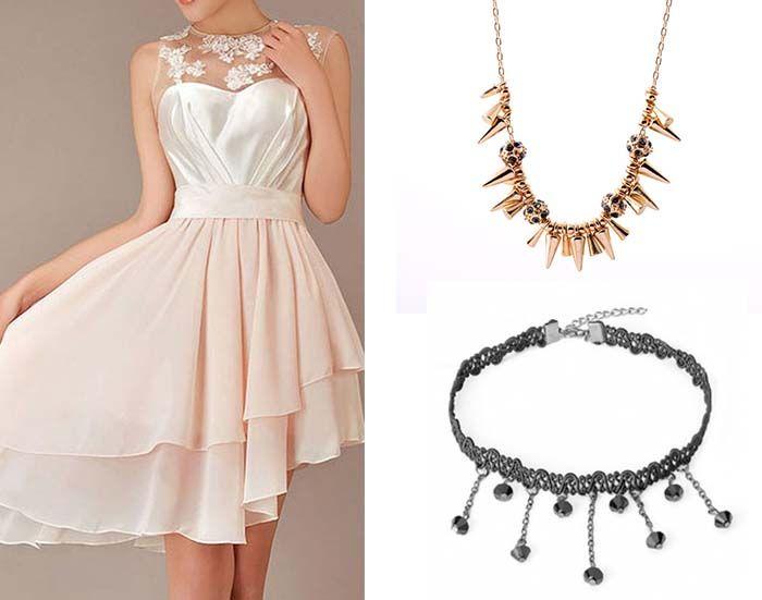 collar prom dresses with short pendants | Prom Dresses 2015 ...