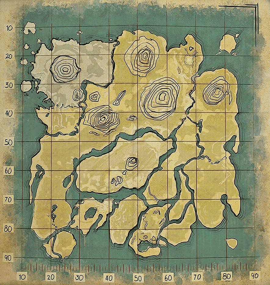 ARK Survival Evolved Map Blank Game Maps