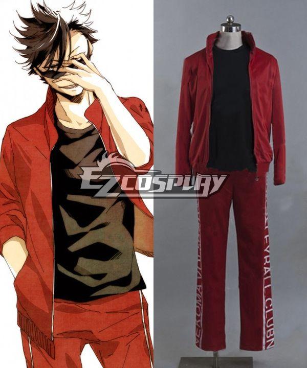 Haikyu!! Cosplay Volleyball Juvenile Red Sportswear Uniform Costume #Sponsored #Volleyball, #Juvenile, #Haikyu