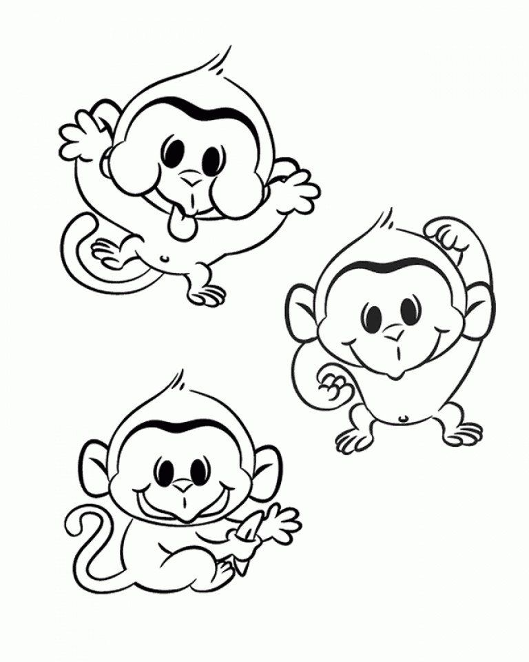 Cute Monkey Coloring Pages Get This Cute Monkey Coloring Pages In 2020 Monkey Coloring Pages Monster Coloring Pages Cartoon Coloring Pages