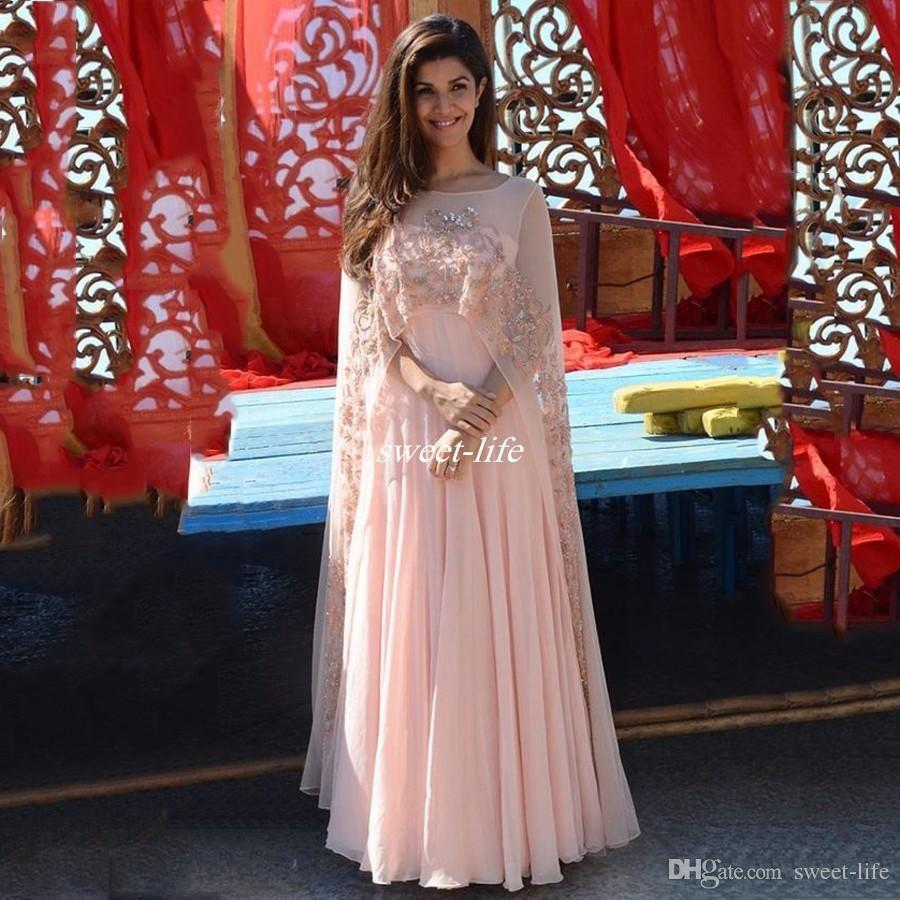 Arabic 2017 Elegant Pink Appliques Women Evening Dresses With Sheer ...