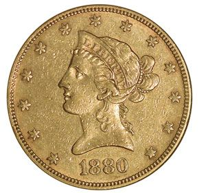 Liberty Head Ten Dollars 1880 O Ms Old Coins Coin Collecting Old Money