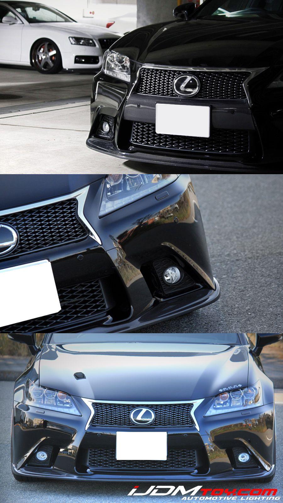Complete Set Fog Lights W Jdm Gs F Foglamp Garnish Universal On Wiring New Ijdmtoy All Lexus Sport Light Kit Get Your Look More Genuine