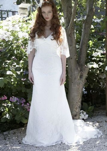 Garbo By Balbier 1920 S Inspired Ivory Lace Empire Wedding Dress Uk14 Als Ebay