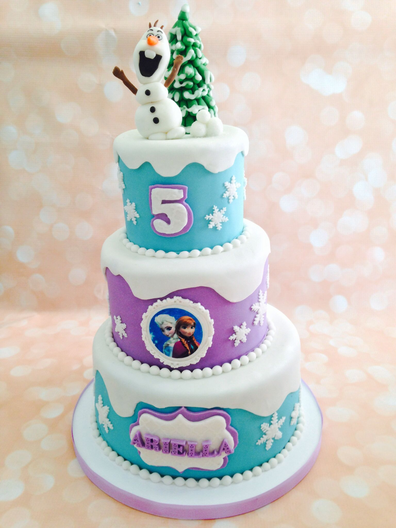 Frozen party 3 tier cake Frozen Party ideas Pinterest ...
