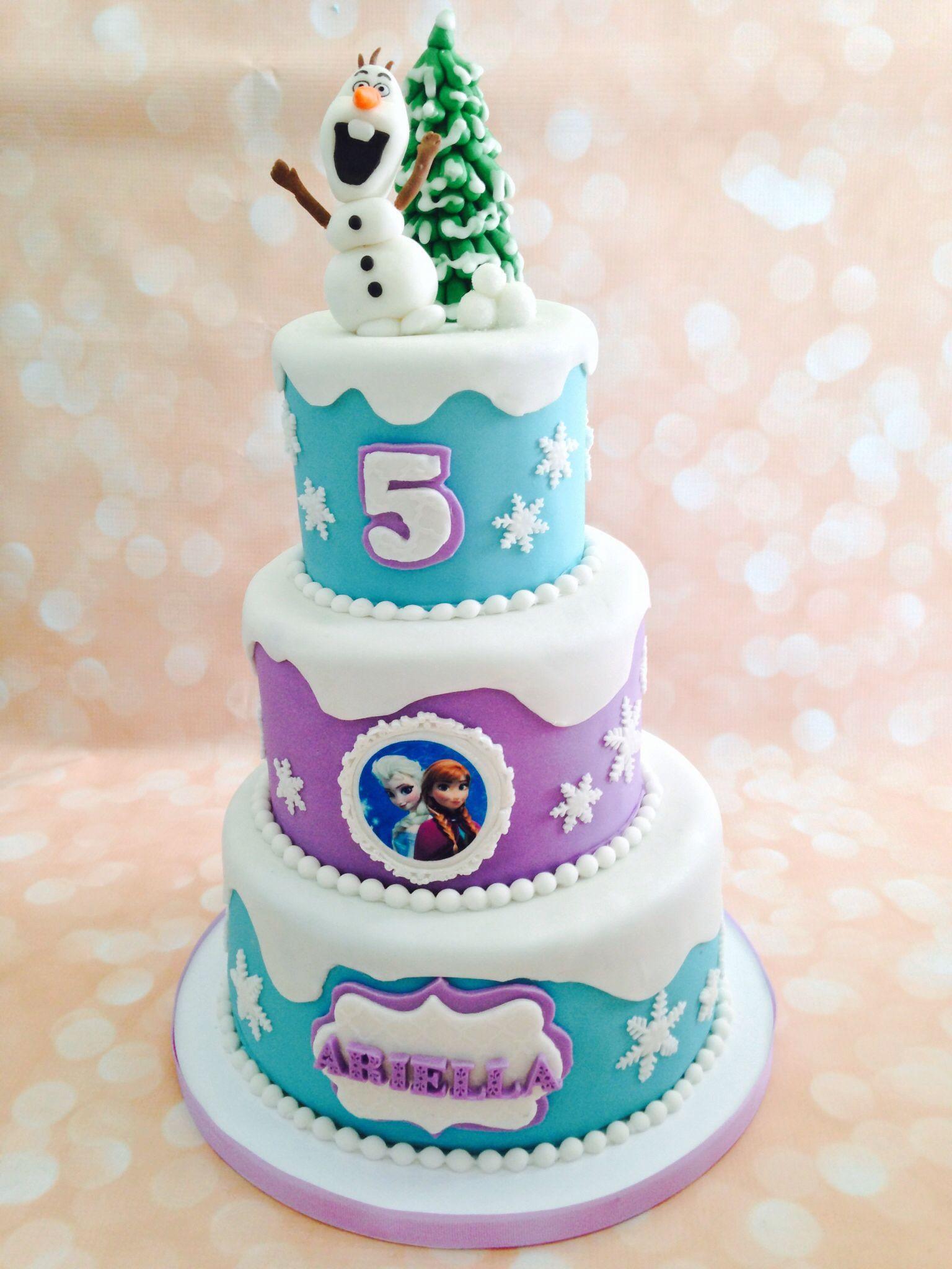 Frozen Cake Design Pinterest : Frozen party 3 tier cake Frozen Party ideas Pinterest ...