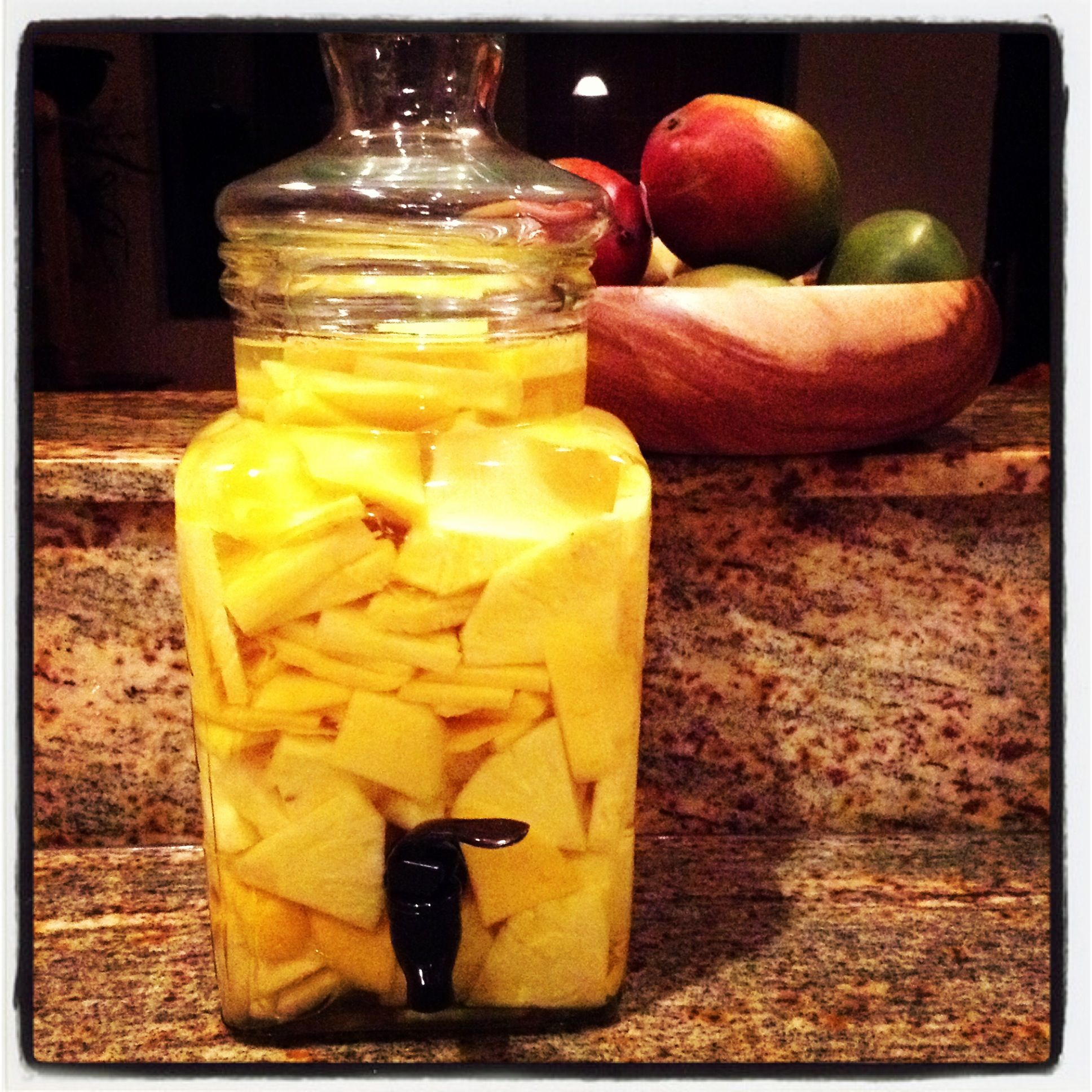 Pineapple & Mango Infused With Vodka..marinate For A Few