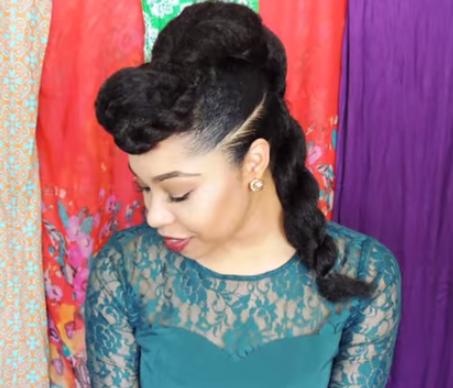 Coupe afro sur cheveux lisse