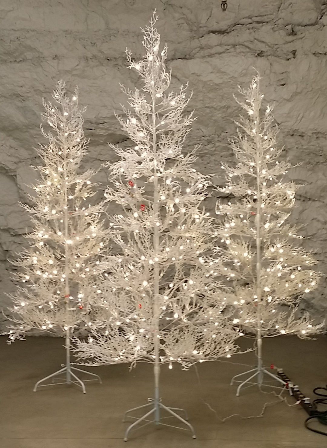 7 ft winter white twig tree with led lights indooroutdoor frosty 7 ft winter white twig tree with led lights indooroutdoor frosty glitter pre aloadofball Gallery