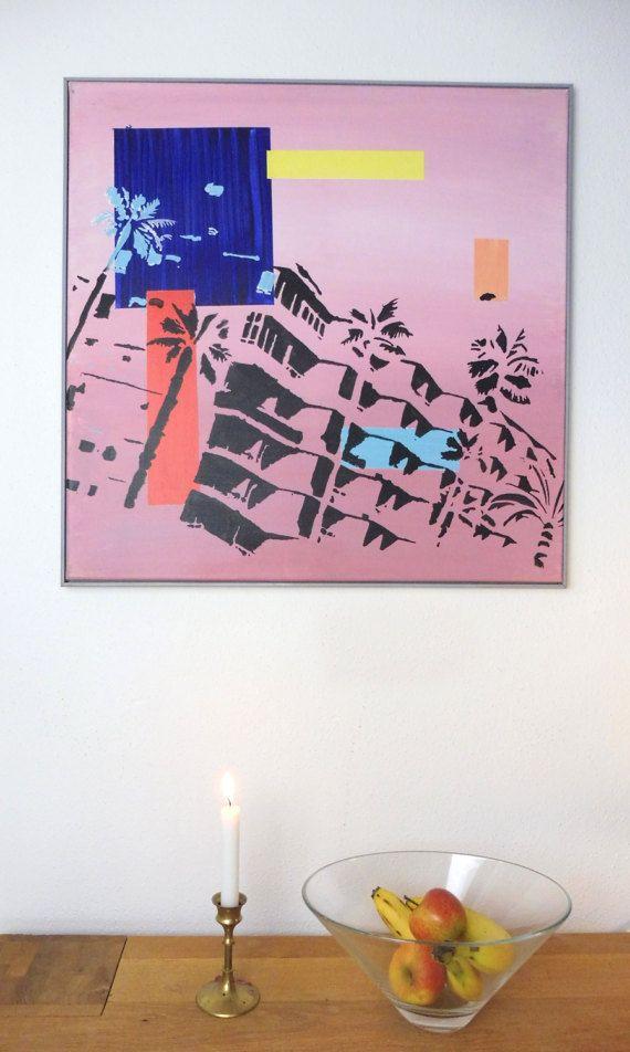 Acrylbild Sunset - gerahmt - 60 x 60 cm - Acryl auf Leinwand ...