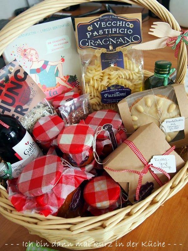 Und hier komm der zweite Teil des italienischen Geschenkkorbs Den - mitbringsel aus der küche
