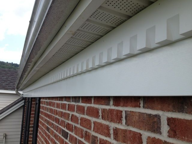 New Aluminum Freeze board installed along with Dental Molding  Exterior Exterior Freeze Board   Dental Molding   Mouldings   Millwork  . Exterior Dentil Molding Sale. Home Design Ideas
